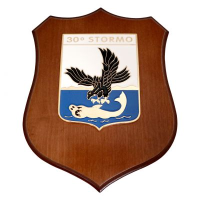 CREST IN METALLO SMALTATO A.M. 30° STORMO