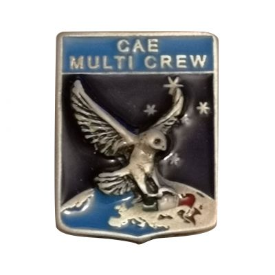 DISTINTIVO DA CAMICIA 23X30MM IN METALLO CON STEMMA CAE MULTI CREW