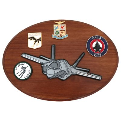 CREST IN METALLO SMALTATO AM AERI F 35
