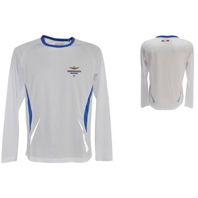 T-SHIRT RUNNING, MANICA LUNGA, LOGO STAMPATO, 100% POLIESTERE A.M.