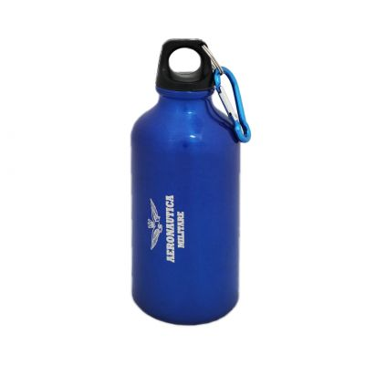 BORRACCIA WATERPROOF CON MOSCHETTONE, IN ALLUMINIO, CAPACITA' 400 ML DIMENSIONI 10,0 X 16,5 X 6,0 CM