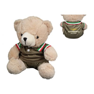 ORSETTO DI PELUCHES IN DIVISA DIMENSIONE H 24 CM