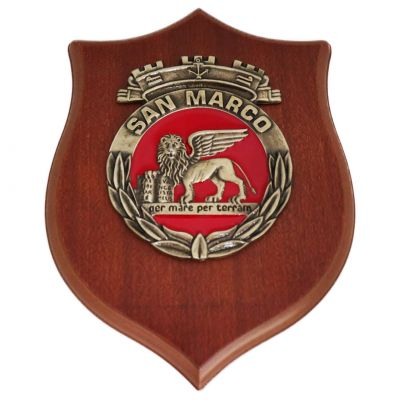CREST IN METALLO M.M. SAN MARCO 3D