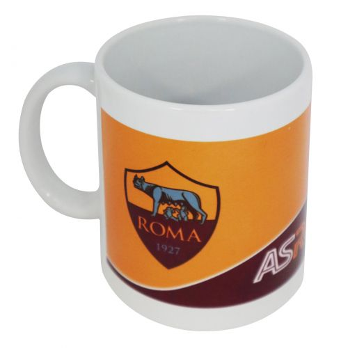MUG IN CERAMICA CON INTERNO BORDEAUX AS ROMA