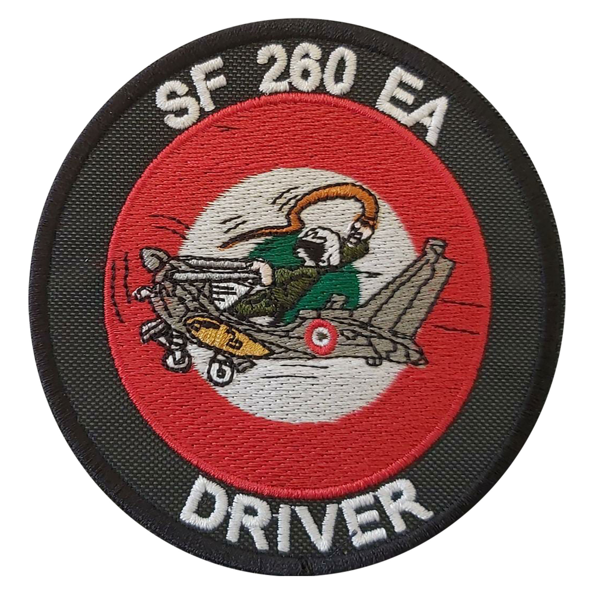 PATCH DISTINTIVO RICAMATO CON VELCRO Dia 90 MM SF260 EA DRIVER
