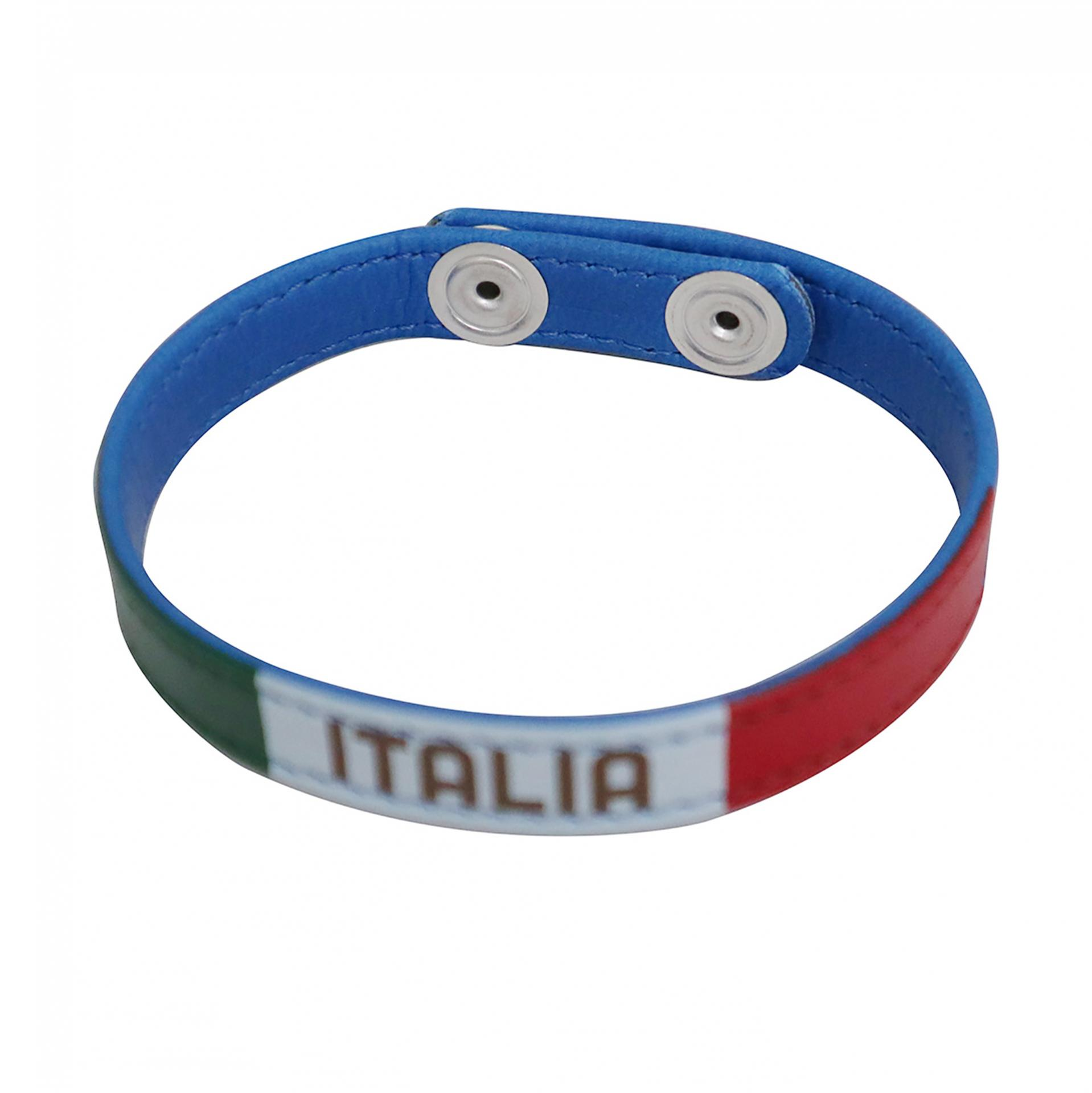 BRACCIALETTO IN PU LEATHER BLU FIGC
